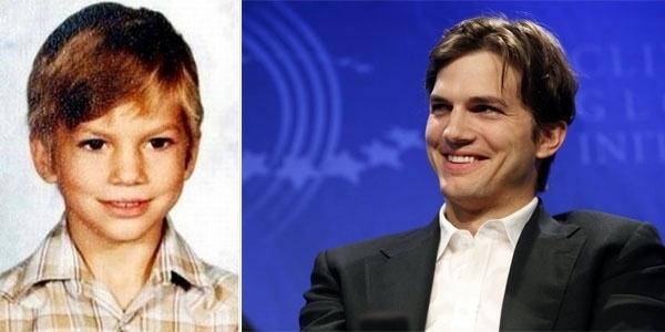 Com essa carinha de bom menino, o ator Ashton Kutcher já devia fazer sucesso entre a garotada