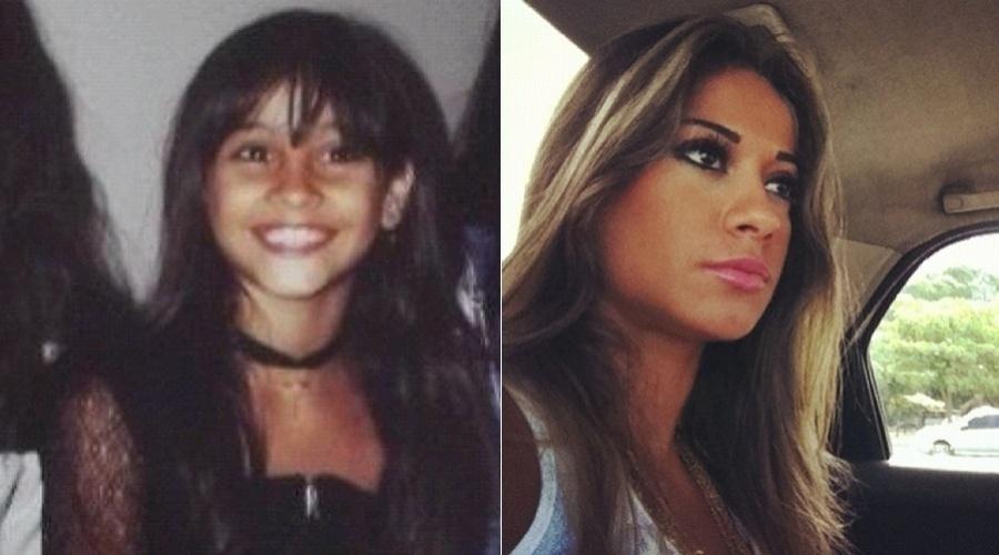 """Mayra Cardi mostra imagem da infância (26/4/12). A modelo divulgou a foto por meio de sua página do Twitter. """"Achei uma foto minha com 8, 9 anos"""", escreveu Mayra no microblog"""