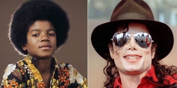 Michael Jackson talvez seja a celebridade que mais se transformou com o tempo. Ele teve a cor da pele alterada, a textura do cabelo modificada e os traços perdidos em uma série de plásticas