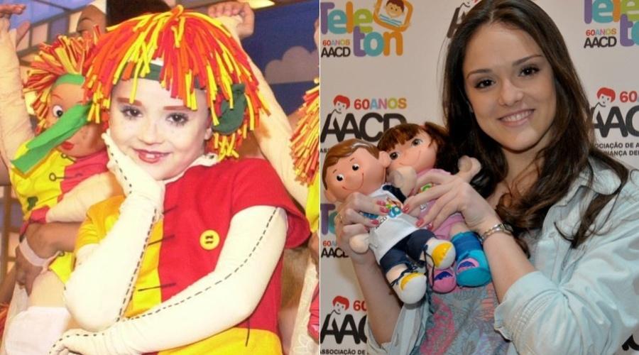 """O primeiro papel de destaque de Isabelle Drummond na TV foi mais do que marcante, a Emília do """"Sítio do Pica-pau Amarelo"""". Ela interpretou a boneca por seis anos"""
