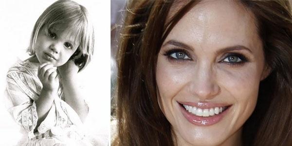 Os anos se passaram e a atriz Angelina Jolie só ganhou mais e mais beleza. Na primeira imagem, a gata está indiscutivelmente parecida com sua filha biológica, Shiloh. Veja fotos da menina