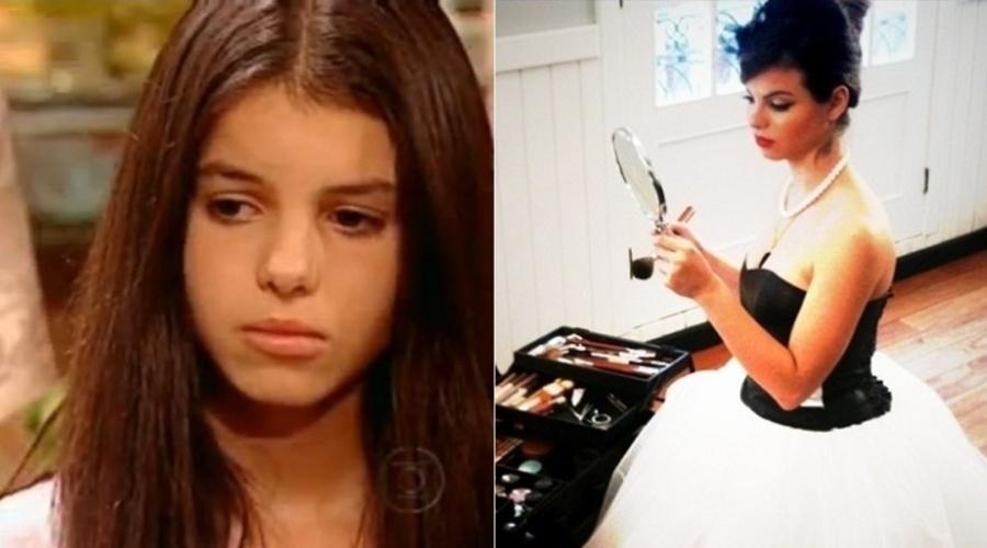 """Sthefany Britto fez diversos comerciais antes de estrear em """"Chiquititas"""", em 1999. Em 2001, Sthefany estreou na Globo na novela """"O Clone"""" (esq.)"""