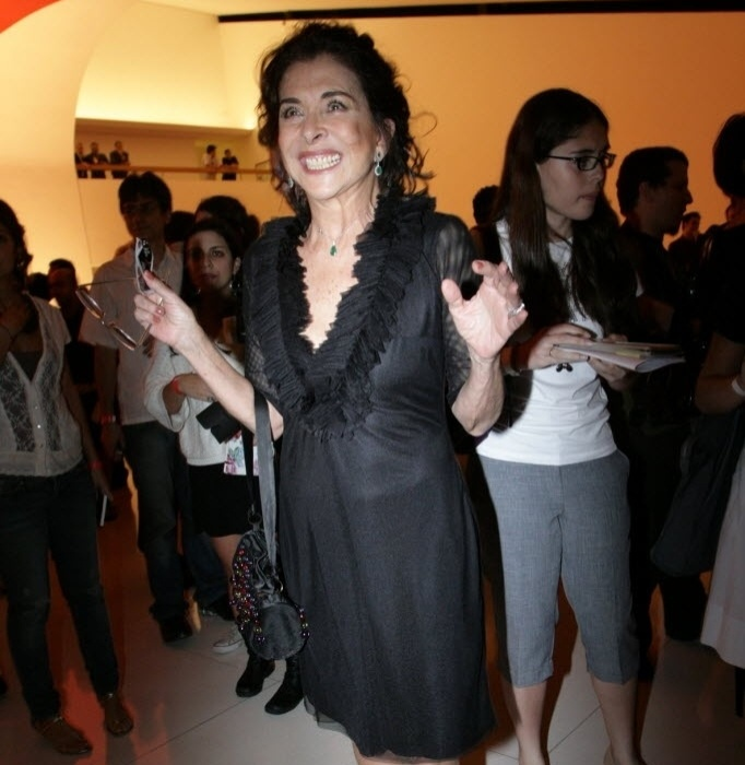 17.out.2008 - A atriz Betty Faria na abertura da Mostra Internacional de Cinema, em São Paulo