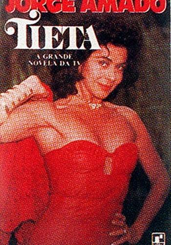 """Betty Faria estampa capa do livro """"Tieta"""", de autoria do escritor baiano Jorge Amado"""
