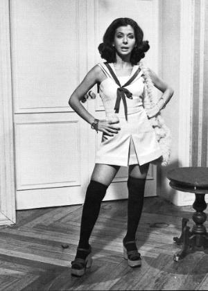 """Betty Faria posa como Lazinha, sua personagem na novela """"O Espigão"""", exibida pela Globo em 1974"""