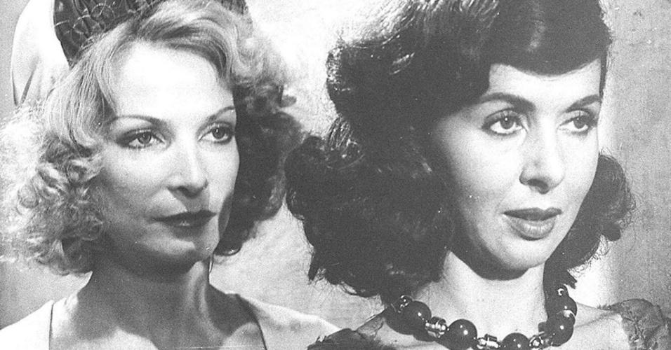 """1974 - Odete Lara e Betty Faria em cena do filme """"A Estrela Sobe"""""""