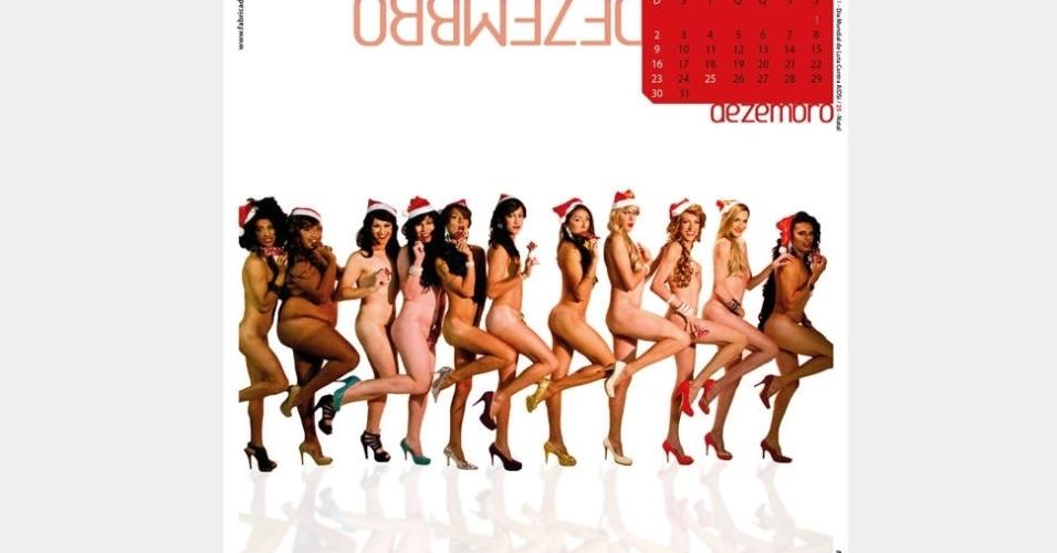 """O grupo """"As Travestidas"""" causou polêmica com calendário com fotos que fazem referência a alguns quadros religiosos no Ceará"""