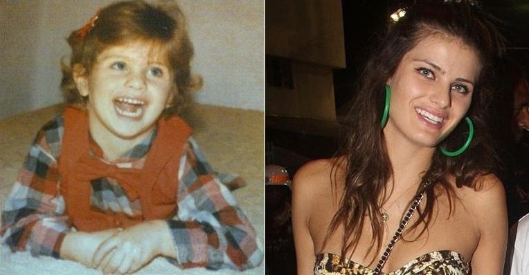 """A garotinha linda da foto é Isabeli Fontana na infância. A top model publicou a imagem no Twitter e escreveu: """"Olha a minha carinha quando criancinha"""" (17/5/12). A bela não mudou muito, não acha? Os olhos azuis e o sorriso são inconfundíveis!"""