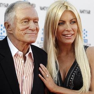 """Depois de levar um fora uma semana antes do casamento, Hugh Hefner, 86, deixou que sua ex-noiva, Crystal Harris, 26, voltasse a morar na mansão da """"Playboy"""" (31/5/12) - Fred Prouser - 28.abr.11/Reuters"""