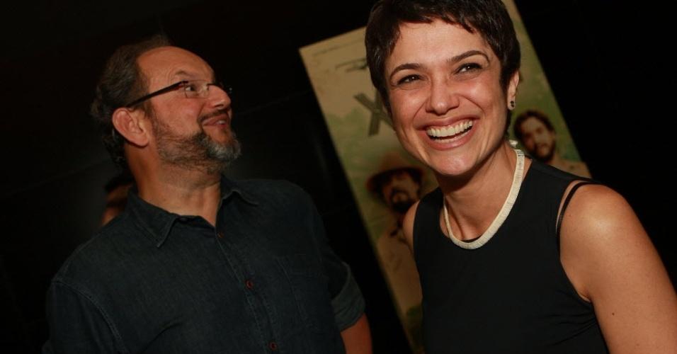 Sandra Annenberg e Ernesto Paglia vão à pré estreia para convidados do filme 'Xingu', no cinema do Shopping Eldorado (27/3/12).