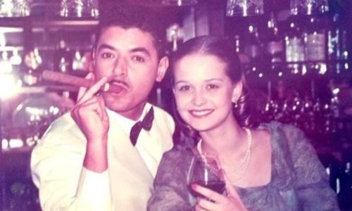 """O promoter David Brazil publicou em seu Twitter foto com a atriz Fernanda Rodrigues. """"@FerRod lembra do Noberto? Minissérie 'Aquarela do Brasil' em 2000, saudade de atuar, sabe!"""" (26/4/12)"""
