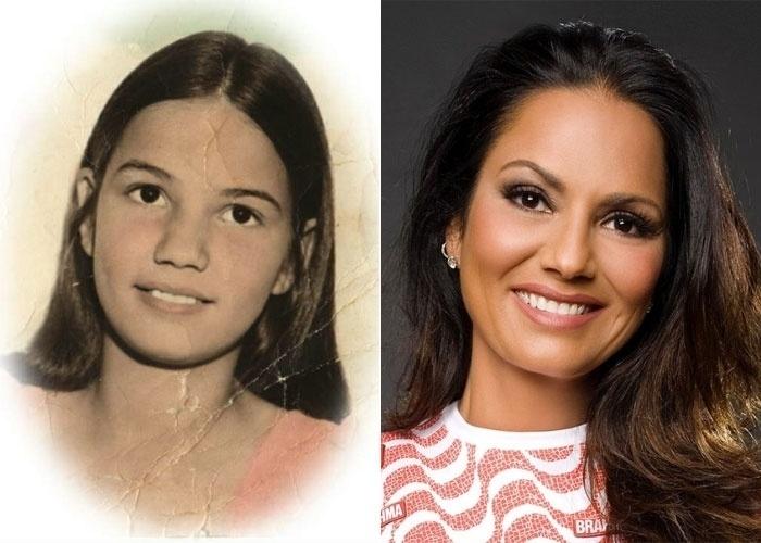 A ex-modelo e empresária Luiza Brunet, de 50 anos, compartilhou com seus seguidores do Twitter uma foto de quando ainda era criança (15/6/12). Junto com a imagem, daquelas antigas, colorida artificialmente, a bela escreveu: 'Gente, olha eu quando era criança?'