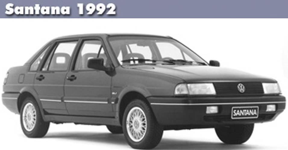 CARROS: Um dos campeões de vendas no início da década de 90, o Santana, da Volkswagen, ganha uma nova versão e se torna o 'hit' do mercado de veículos.