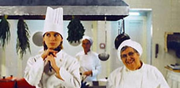 """1997 - Na novela """"Zazá"""", Letícia interpretava uma chef de cozinha"""