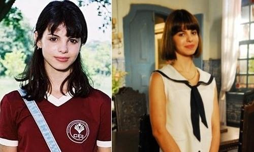 """A atriz seguiu fazendo outros trabalhos na emissora """"global"""": """"Agora É Que São Elas"""" (na primeira imagem, em novela de 2003), """"Começar de Novo"""" (2004), """"Desejo Proibido"""" (segunda foto, do ano de 2007)."""