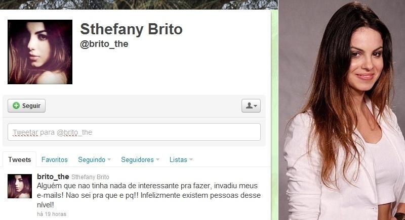 """A atriz Stefhany Brito teve sua caixa de e-mails invadida. O ato gerou comentário irritado da ex-mulher do jogador Pato. Em seu perfil no Twitter, ela comentou: """"Alguém que nao tinha nada de interessante pra fazer, invadiu meus e-mails! Nao sei pra que e pq!! Infelizmente existem pessoas desse nível! (sic)"""" (14/10/2011)"""