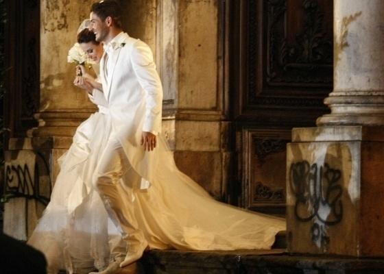 A festa do casamento foi realizada no Hotel Copacaba Palace, em julho de 2009