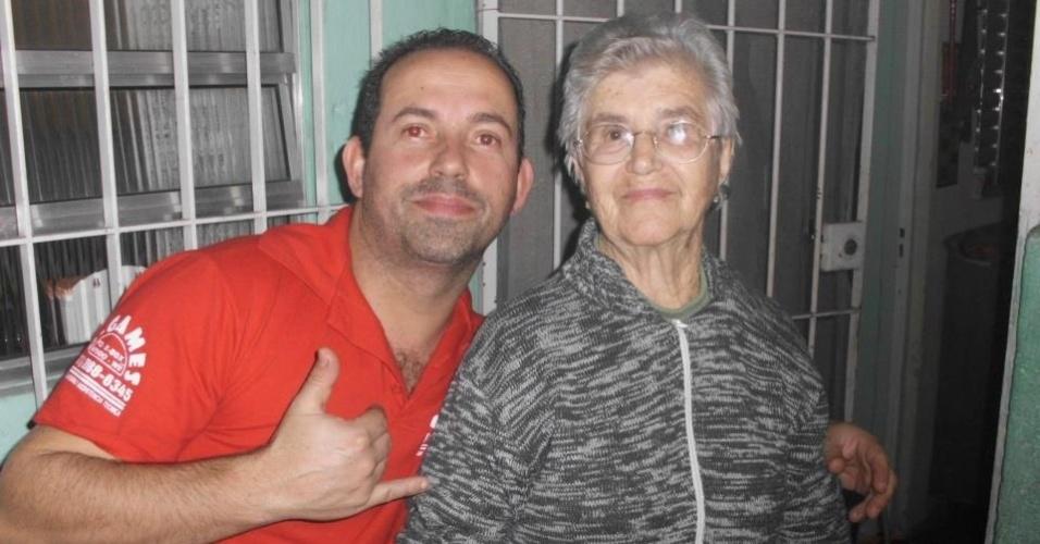 """""""Esta foto foi tirada no dia em que minha querida avó Trindade Areval completou 86 anos, 30/6/12"""", conta Dirceu, de Guarulhos (SP)."""