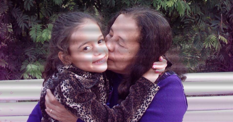 """""""Minha avó Maria Lucia mora em Belo Horizonte e essa foto foi tirada em uma de suas visitas aqui em Santo André (SP)"""", conta Mell Kimberly."""