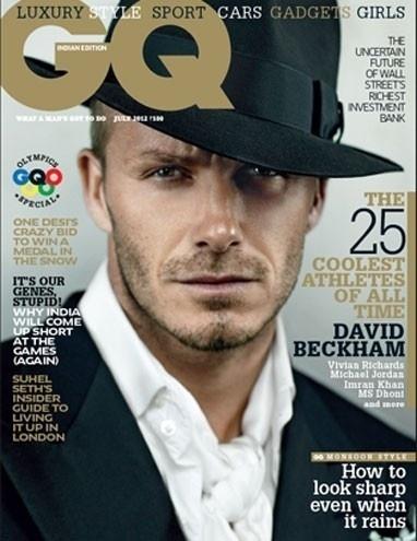"""David Beckham estrela capa da """"GQ"""" indiana"""
