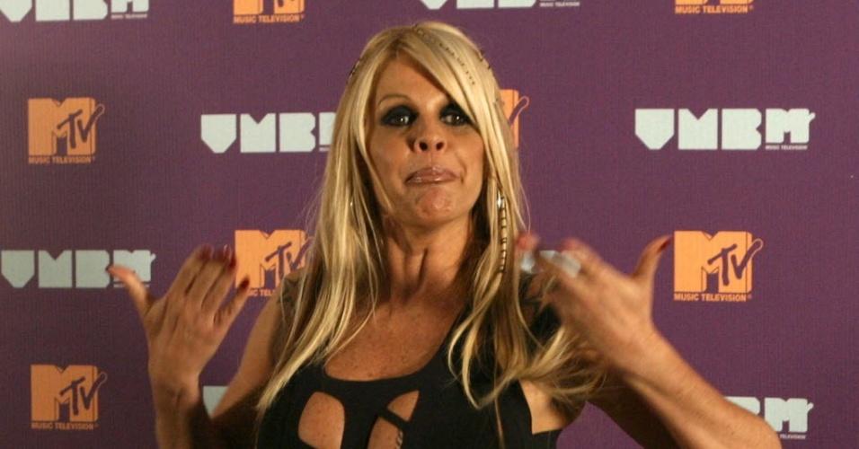 Monique Evans comparece à festa do VMB da MTV no Anhembi, em São Paulo (20/4/11)