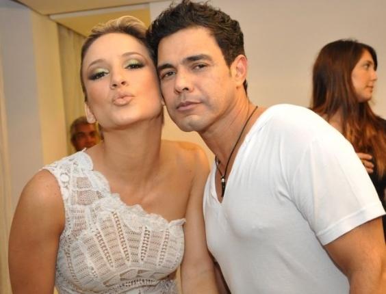 Claudia Leitte e Zezé di Camargo na gravação do especial de fim de ano, no Credicard Hall (24/11/10)
