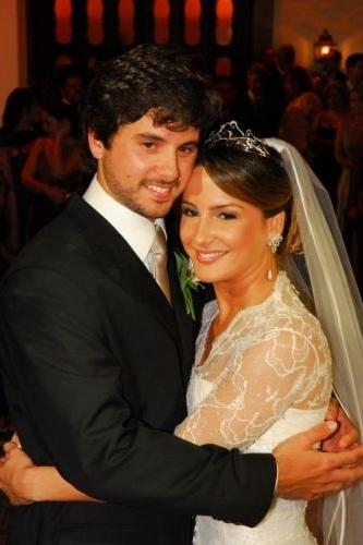 O casamento da cantora com Márcio Pedreira no Hotel Convento do Carmo, em Salvador, na Bahia (7/3/07)