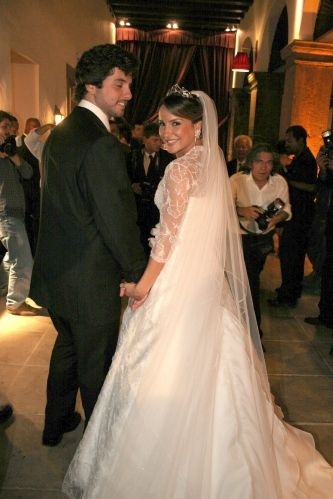 O empresário Márcio Pedreira e Claudinha se casam no Hotel Convento do Carmo, em Salvador, na Bahia (7/3/07)