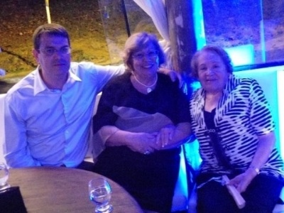 Carolina Penna Strafacci envia foto de suas avós Diva e Georgina, elas são de Igarapava (SP).