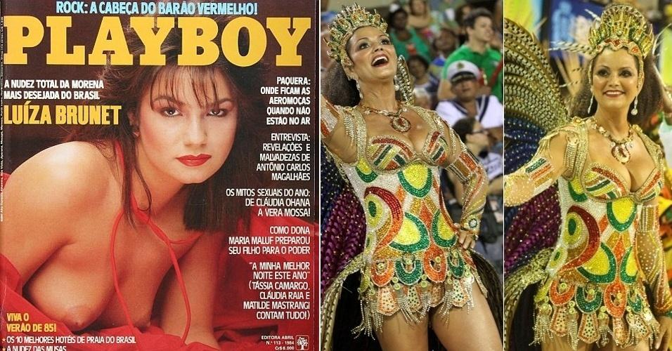 """A modelo Luíza Brunet, 50, foi uma das musas brasileiras nos anos 80. Ela iniciou a carreira como modelo de uma marca de calças, ganhou espaço na TV e posou para as revistas """"Ele e Ela"""" e """"Playboy"""". Atualmente, ela continua trabalhando como modelo."""