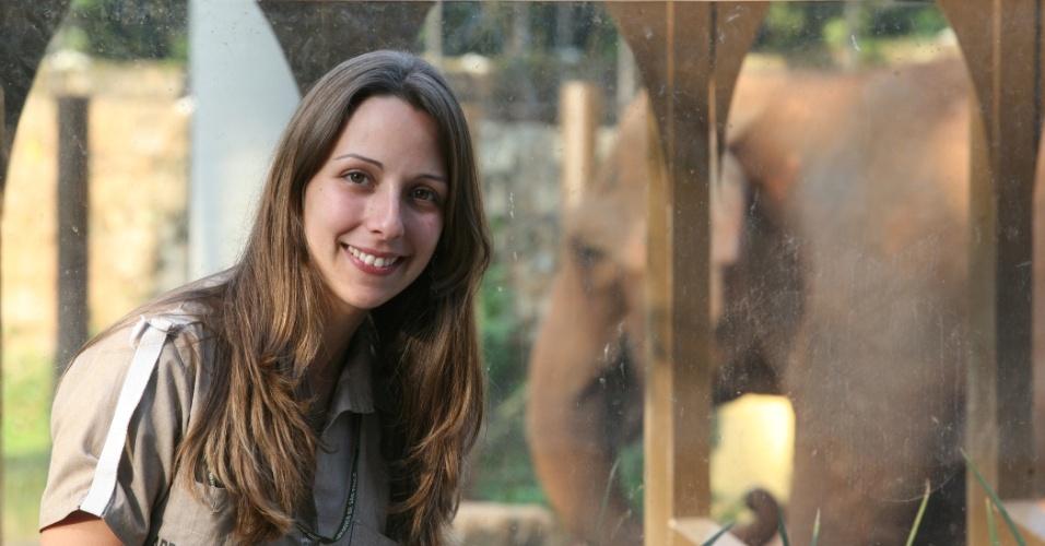 Durante o passeio a bióloga Ana Carolina Batista, 24, acompanhou a reportagem do BOL. Ela trabalha há um ano no zoológico de São Paulo, cuidando do manejo e alimentação dos animais.