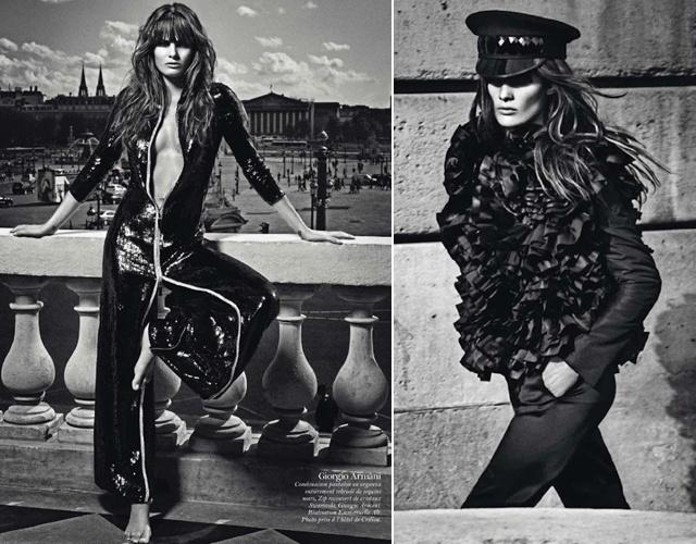 """Isabeli Fontana mostra seu potencial de camaleoa em um editorial da """"Vogue"""" francesa (agosto/2012)"""