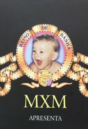 Convite para a festa do 1º aniversário de Sasha, filha da apresentadora Xuxa e de Luciano Szafir (16/6/99)