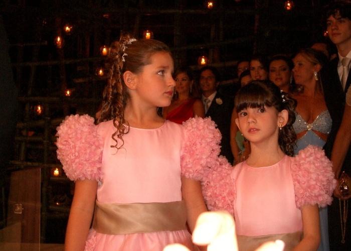 31.out.2004 - Sasha foi uma das daminhas de honra do casamento dos apresentadores Angélica e Luciano Huck na Marina da Glória, no Rio de Janeiro