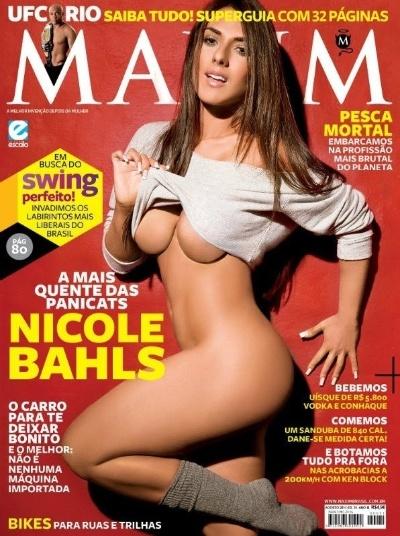 "Nicole Bahls estampa capa da revista ""Maxim"" de agosto de 2011"