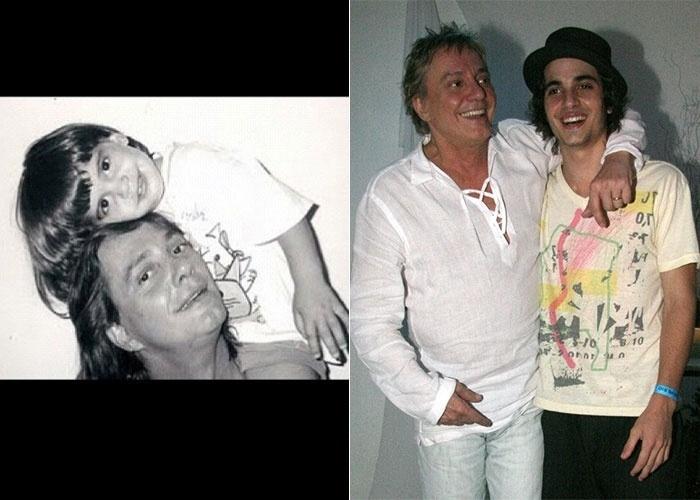 Fiuk divulgou uma imagem da infância onde aparece abraçado ao pai, o cantor Fábio Jr (4/8/12)