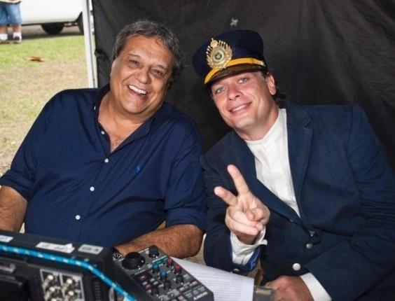 Dennis Carvalho e Fábio Assunção em cena de 'Clandestinos' (out.2010).