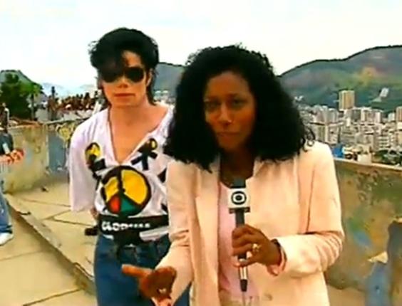 Em uma conversa rápida com o astro Michael Jackson, em 1996, durante passagem do cantor pelo Brasil
