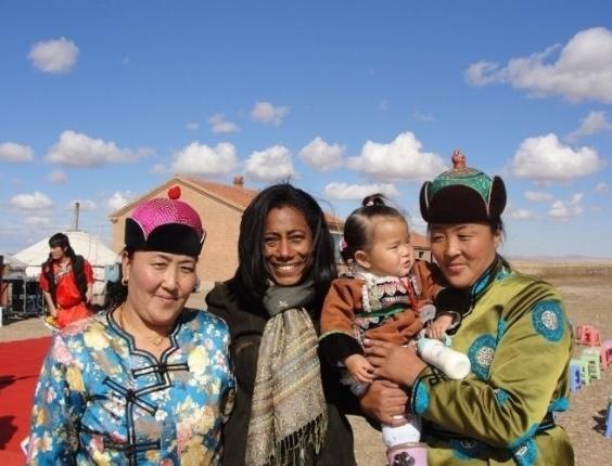 Glória Maria em reportagem especial na China para o 'Globo Repórter' (foto de novembro de 2010).