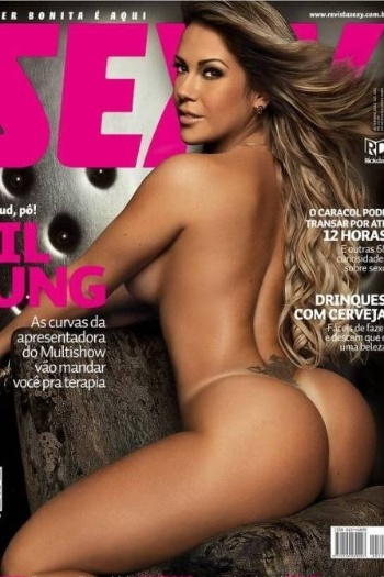 """A capa da """"Sexy"""" de setembro vai deixar muito marmanjo de boca aberta: Gil Jung, apresentadora do programa """"Diário Secreto"""", no Multishow, mostra as curvas impecáveis de seu corpo na edição de setembro da publicação"""