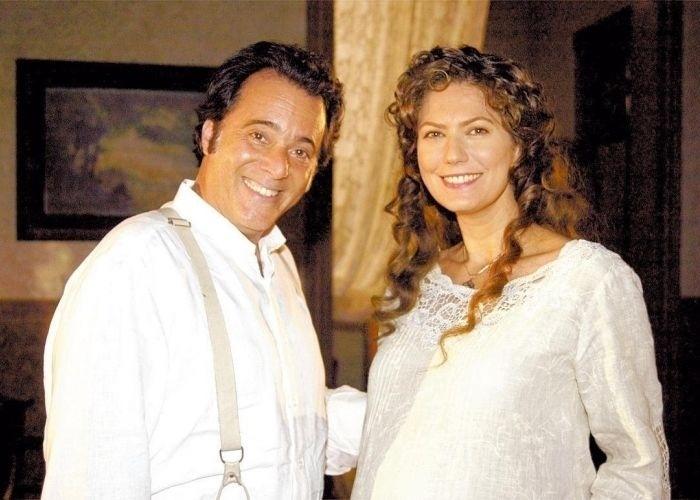 """No remake de """"Cabocla"""" (2004), Tony Ramos chamou atenção como coronel Boanerges. O ator contracenava com Patricia Pillar"""