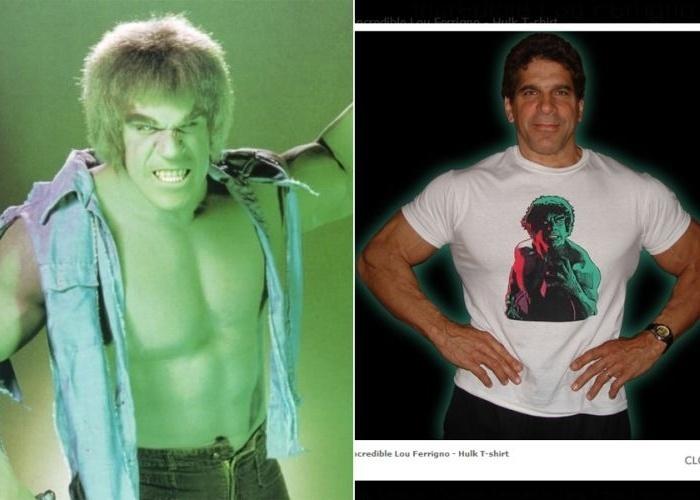 """Lou Ferrigno ficou conhecido pela série """"O Incrível Hulk"""", produzida entre 1977 e 1982. Ele conquistou o papel por ser um fisiculturista. Aliás, com o fim da série, Ferrigno passou a se dedicar à carreira esportiva e chegou a ser personal trainer de Michael Jackson, além de participar de filmes como """"Hércules"""". Atualmente, ele vende pôsteres autografados da época de ouro de sua carreira como ator e halterofilista, além de camisetas personalizadas, livros e DVDs em seu site oficial."""