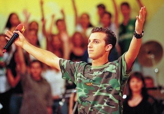 """Nov.1998 - Luciano Huck na gravação do programa """"H"""", na Rede Bandeirantes, onde ficou de 1996 até 2000, quando se transferiu para a Globo para apresentar o """"Caldeirão do Huck"""""""
