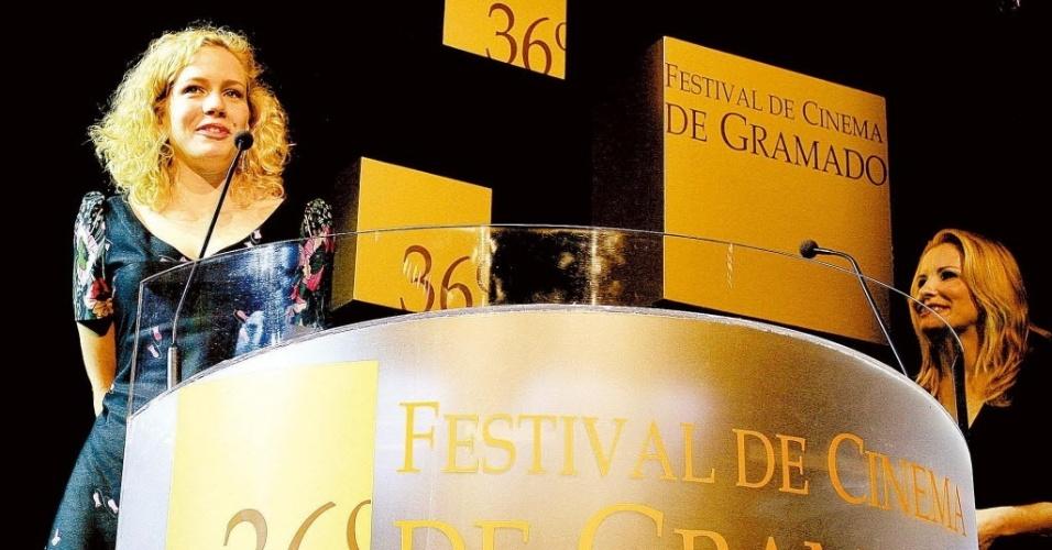 """Leandra Leal, apresenta o filme """"Nome Próprio"""" durante o 36º Festival de Cinema de Gramado, no Rio Grande do Sul"""