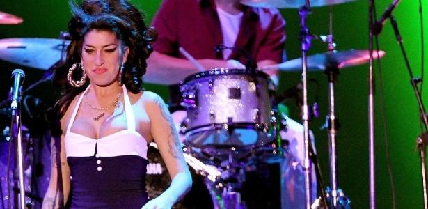 Amy Winehouse durante show no Summer Soul Festival, na Arenha Anhembi, em São Paulo (15/01/11) - Flávio Florido/UOL