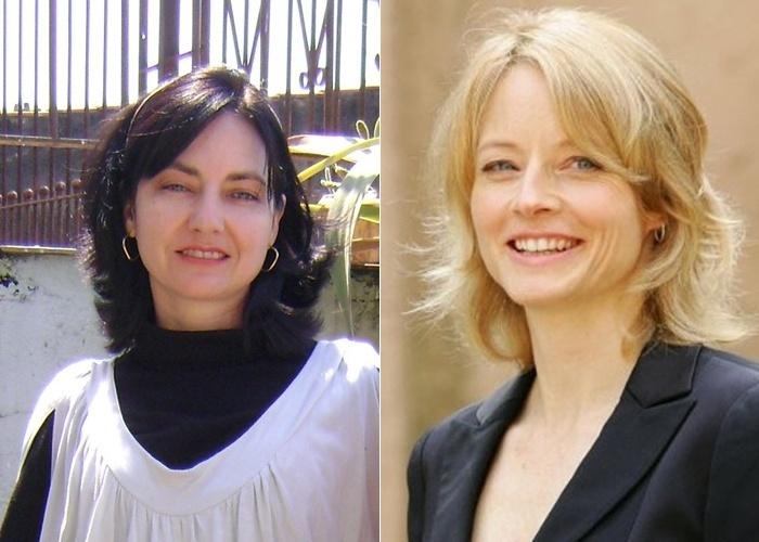 Apesar dos cabelos escuros, Maria Gonçalves diz que as pessoas consideram seu rosto idêntico ao da atriz Jodie Foster