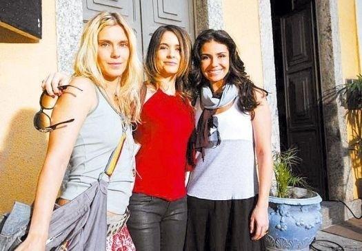 Da esq. para a dir.: as atrizes Carolina Dieckmann, Cláudia Abreu e Giovanna Antonelli, protagonistas da novela 'Três Irmãs', da Globo