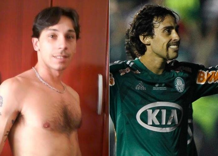 Nathalia mandou a foto de seu namorado, o Fábio, que ela acha bem parecido com o jogador de futebol Valdívia, atacante do Palmeira. O casal vive em Sorocaba (SP)