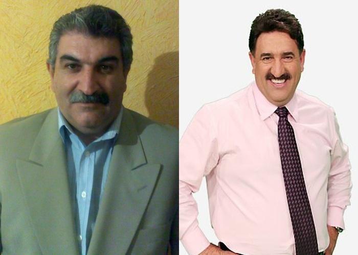O bigode não deixa dúvidas Durval Luiz é a cara do apresentador Ratinho; ele é de São Bernardo do Campo (SP)