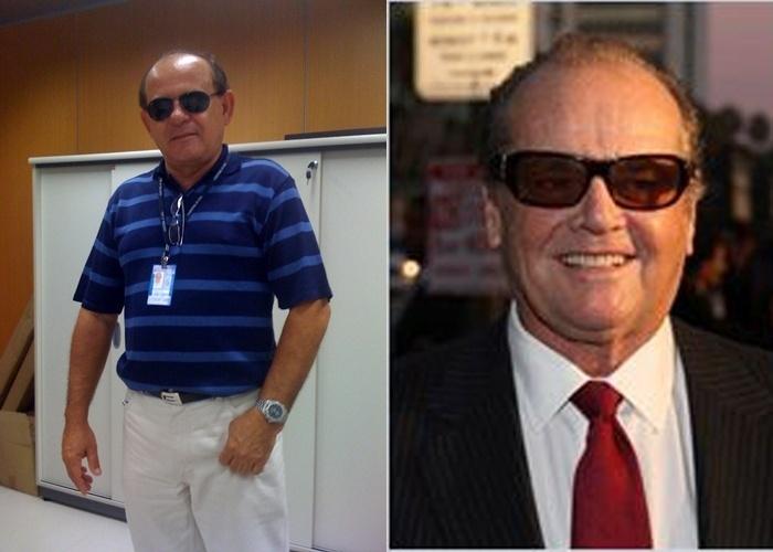 Osmar revela que 'muitos amigos apontam uma semelhança entre ele e o famoso Jack Nicholson, astro de Hollywood'. Ele até ganhou o apelido de Jack